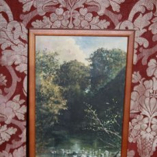 Arte: E2-015. ACUARELA DE 'RAMON AMADO Y BERNADET' (1844-1888) REP. PAISAJE FLUVIAL CON CASCADA. Lote 35671474