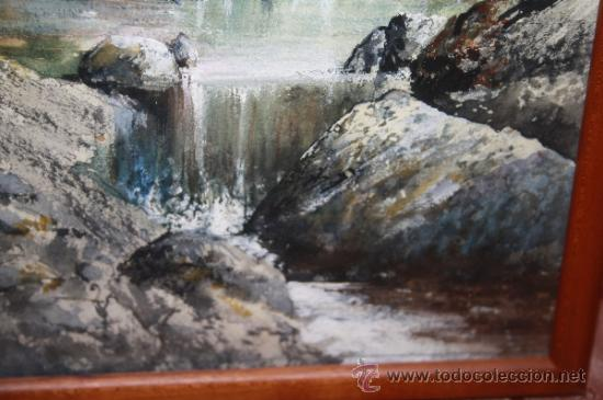 Arte: E2-015. ACUARELA DE RAMON AMADO Y BERNADET (1844-1888) REP. PAISAJE FLUVIAL CON CASCADA - Foto 7 - 35671474