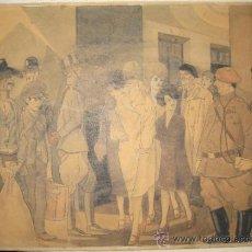 Arte: PEDRO ANTEQUERA AZPIRI (MADRID 1892-1975). TINTA Y ACUARELA.