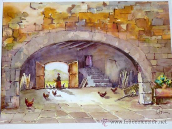 Arte: bonita acuarela.Miquel Torné (padre del pintor Miquel Torné de Semir). - Foto 2 - 36021248