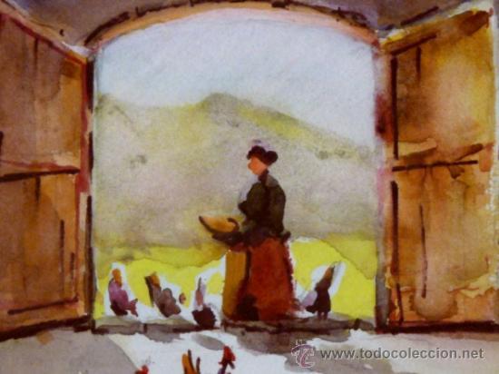 Arte: bonita acuarela.Miquel Torné (padre del pintor Miquel Torné de Semir). - Foto 3 - 36021248