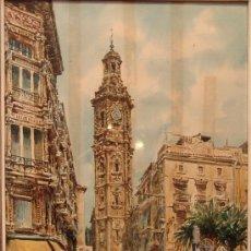 Arte: PRECIOSA ACUARELA DEL PRESTIGIOSO PINTOR MALAGUEÑO FRANCISCO CLAVERO. Lote 36259784