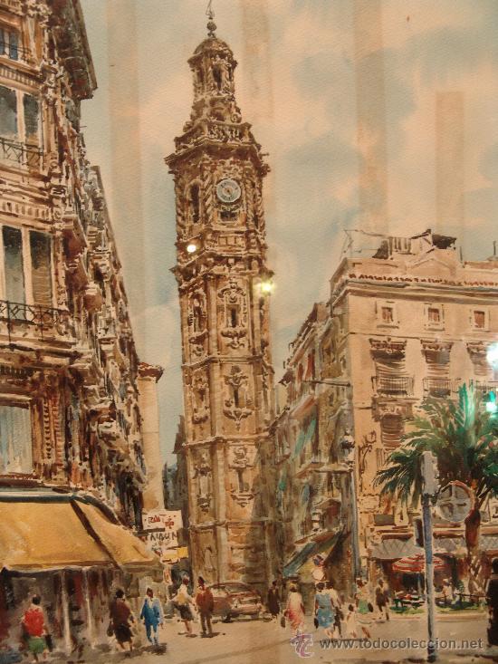 Arte: PRECIOSA ACUARELA DEL PRESTIGIOSO PINTOR MALAGUEÑO FRANCISCO CLAVERO - Foto 2 - 36259784