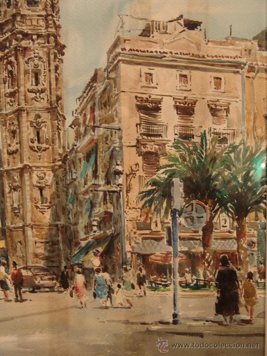 Arte: PRECIOSA ACUARELA DEL PRESTIGIOSO PINTOR MALAGUEÑO FRANCISCO CLAVERO - Foto 3 - 36259784