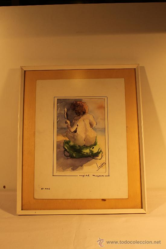 ACUARELA VICENTE LUJAN (Arte - Acuarelas - Contemporáneas siglo XX)