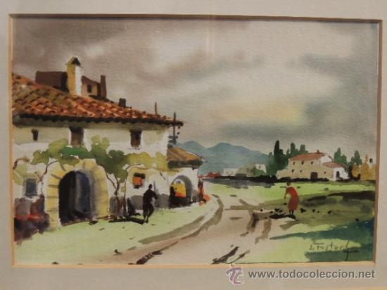 Arte: ACUARELA DE J FUSTER GIMPERA - Foto 2 - 36299956