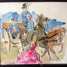 Arte: COLORIDA ACUARELA ORIGINAL MUY BIEN EJECUTADA, POSIBLEMENTE AÑOS 60,. Lote 36385931