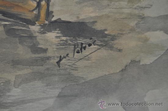 Arte: Acuarela de firma ilegible - Foto 2 - 36835060