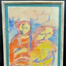 Arte: FIRMADO M.GARCÍA GARRIDO. ACUARELA FECHADA DEL AÑO 92. PERSONAJES. Lote 36762653