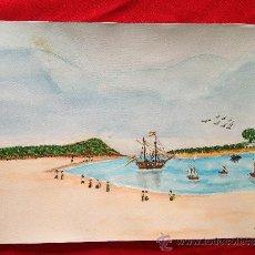 Arte: ACUARELA TEMATICA MARINA. Lote 36958558