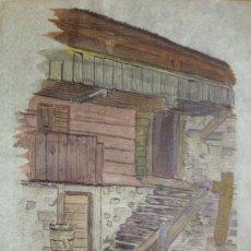 Arte: BONITA ACUARELA DEL FINALES DEL XIX, FIRMADA POR LA PINTORA ALEMANA ROSY BISCHOFF. Lote 37063356