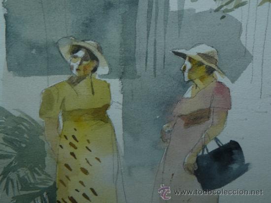 Arte: ACUARELA - FIRMADA BIANCHI - PERSONAJES FEMENINOS - Foto 3 - 37005370