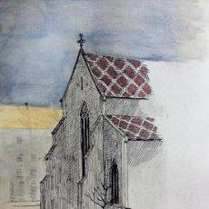 Arte: INTERESANTE ACUARELA DE ROSY BISCHOFF, FIRMADA R.B. FINALES DEL XIX. Lote 37090690