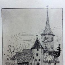 Arte: EXCELENTE ACUARELA ORIGINAL DE ROSY BISCHOFF, GRAN DETALLE Y MINUCIOSIDAD, CALIDAD. Lote 37090770