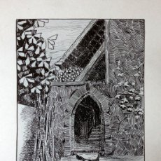 Arte: EXQUISITA ACUARELA DE FINALES DEL SIGLO XIX, FIRMADA POR ROSY BISCHOFF. Lote 37114468