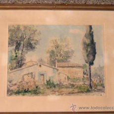Arte: ACUARELA DE MANUEL BORDALLO.(BARCELONA 1920-1996).AÑO 1975. Lote 37432013