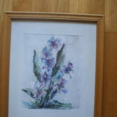 Arte: CUADRO ACUARELA FLORES, FIRMADA Y DATADA. Lote 37480981