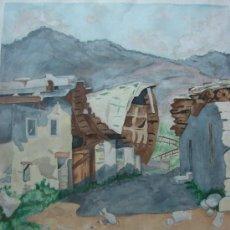 Arte: ACUARELA FIRMADA Y FECHADA MENENE 1952. EL FERROL. Lote 37662824