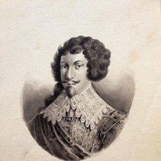 Arte: INTERESANTE RETRATO ORIGINAL DE GRAN CALIDAD DE ENRIQUE II DE MONTMORENCY. 1595-1632. Lote 37663861