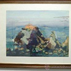 Arte: CUADRO PINTURA 1982 ACUARELA DE LA PINTORA ESPAÑOLA JOSEFINA MUÑÍZ. Lote 37785878