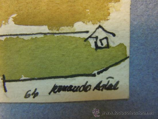 Arte: DIBUJO A TINTA Y ACUARELA DE LA CATEDRAL DE LA SEO DE ZARAGOZA. FIRMADO ARMANDO ARTAL. AÑO 64 - Foto 6 - 37811422