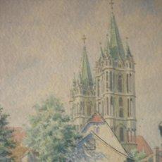 Arte: 1946 - BELLA ACUARELA FIRMADA, DATADA Y LOCALIZADA. Lote 38060411