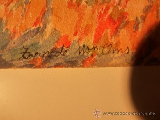 Arte: acuarela sobre papel.Firma ilegible. - Foto 5 - 38099298