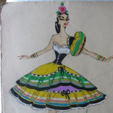 Arte: FIGURÍN DE TEATRO, ACUARELA ORIGINAL FIRMADA COVE. Lote 38151160