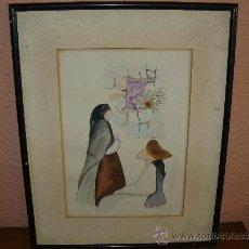 Arte: ACUARELA - ANONIMA - MUJERES IBICENCAS. Lote 38152182