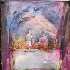 Arte: JORDI ANDREU FRESQUET - OBRA ORIGINAL - BODEGÓN, MESA, COMIDA, BOTELLAS.. Lote 24936117