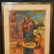 Arte: ROMÀ BONET SINTES (BON) GOUCHE SOBRE PAPEL DE LOS AÑOS 50. PERSONAJES. Lote 38373129