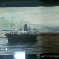 Arte: . CUADRO DIBUJO - ACUARELA, POR AKAR. ORIGINAL. AÑOS 50... Lote 38440029