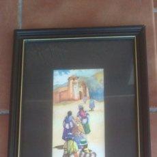 Arte: ACUARELA FERNANDO HINOJOSA(CUSCO) MUJERES SUBIENDO A LA ERMITA. Lote 38687508