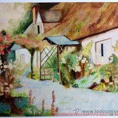Arte: BONITA ESCENA DE UN COTTAGE FLORAL, MARAVILLOSOS COLORES, BIEN EJECUTADO. Lote 38795381