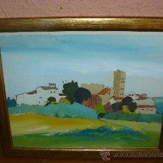 Arte: ACUARELA - FIRMADA R VILA - PAISALE DE LA GARROTXA. Lote 38845050