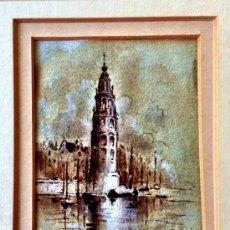 Arte: MARAVILLOSO E IMPORTANTE PAISAJE DE AMSTERDAM FECHADO EN 1888, GRAN CALIDAD,. Lote 38936246