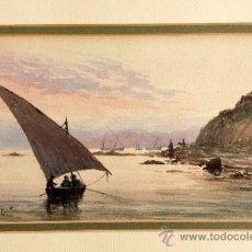 Arte: MAGISTRAL MARINA, FIRMADA Y FECHADA S. BUCKLE 1886, EXCELENTE CALIDAD,. Lote 39275427