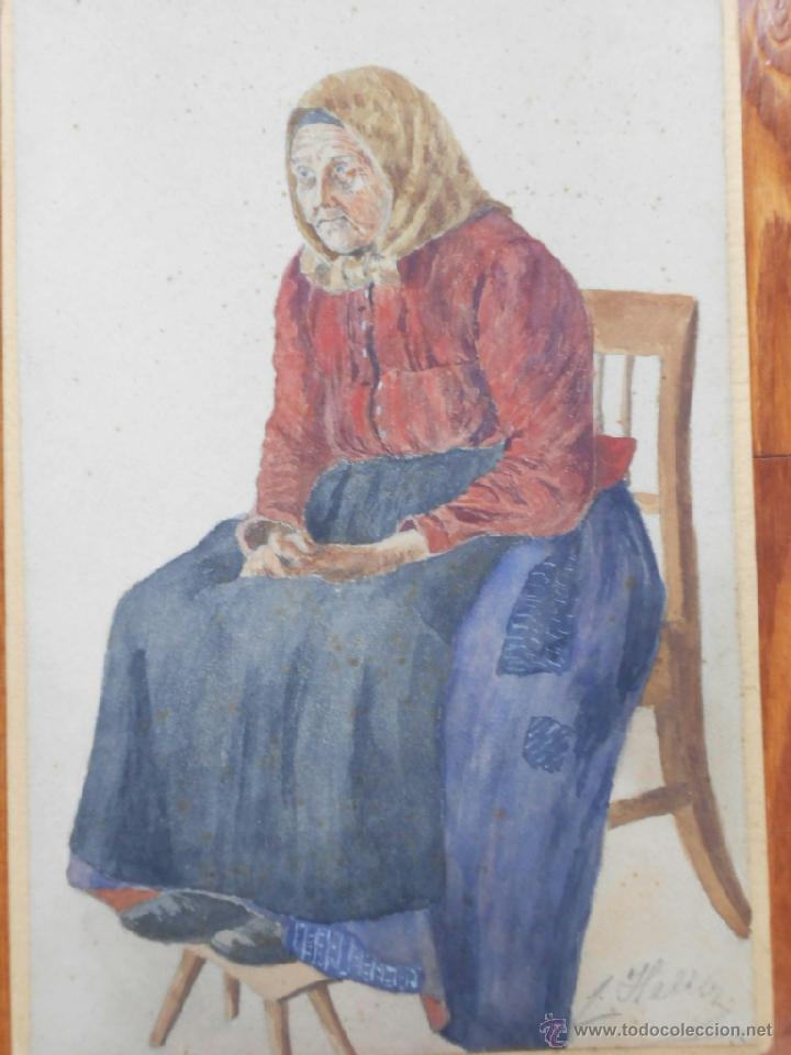 BELLA ACUARELA FIRMADA POR HELLER (Arte - Acuarelas - Contemporáneas siglo XX)