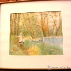 Arte: ACUARELA FIRMADA WALY-1913-PARIS. Lote 39382718