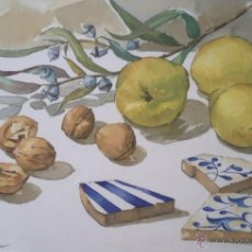 Arte: ACUARELA DE JORDI ORRIOLS MARSAN, PINTOR DE SABADELL. Lote 39505672