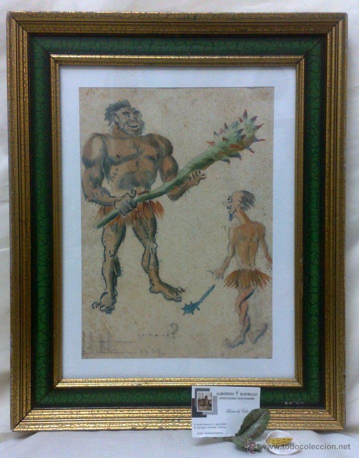 Arte: AÑO 1902. FIRMADO. CARICATURA . ACUARELA/PAPEL. - Foto 5 - 29000467
