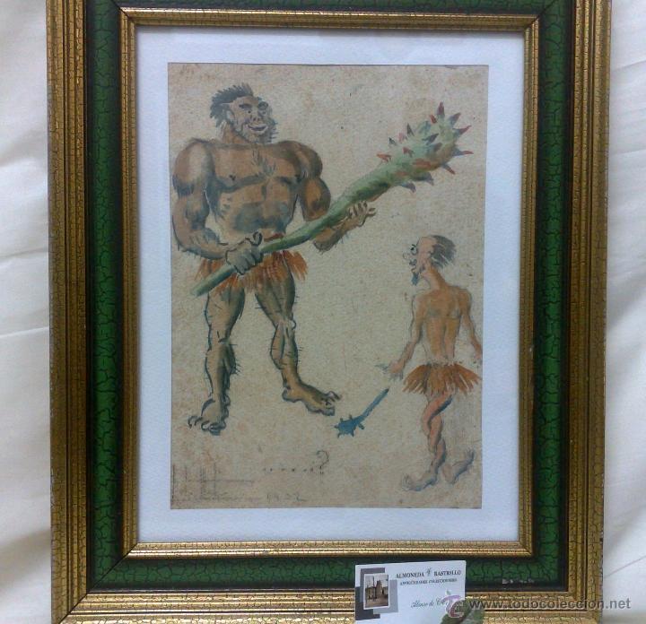 Arte: AÑO 1902. FIRMADO. CARICATURA . ACUARELA/PAPEL. - Foto 8 - 29000467
