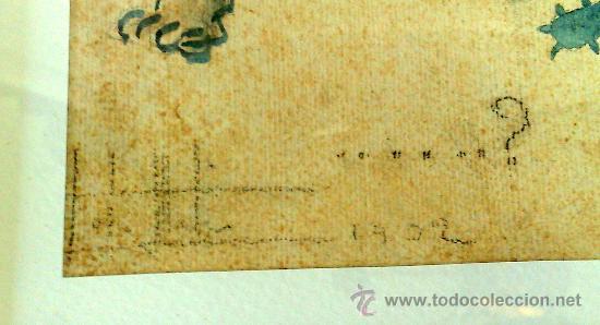 Arte: AÑO 1902. FIRMADO. CARICATURA . ACUARELA/PAPEL. - Foto 11 - 29000467