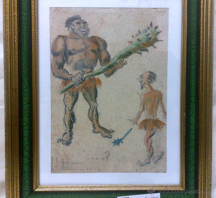 Arte: AÑO 1902. FIRMADO. CARICATURA . ACUARELA/PAPEL. - Foto 12 - 29000467
