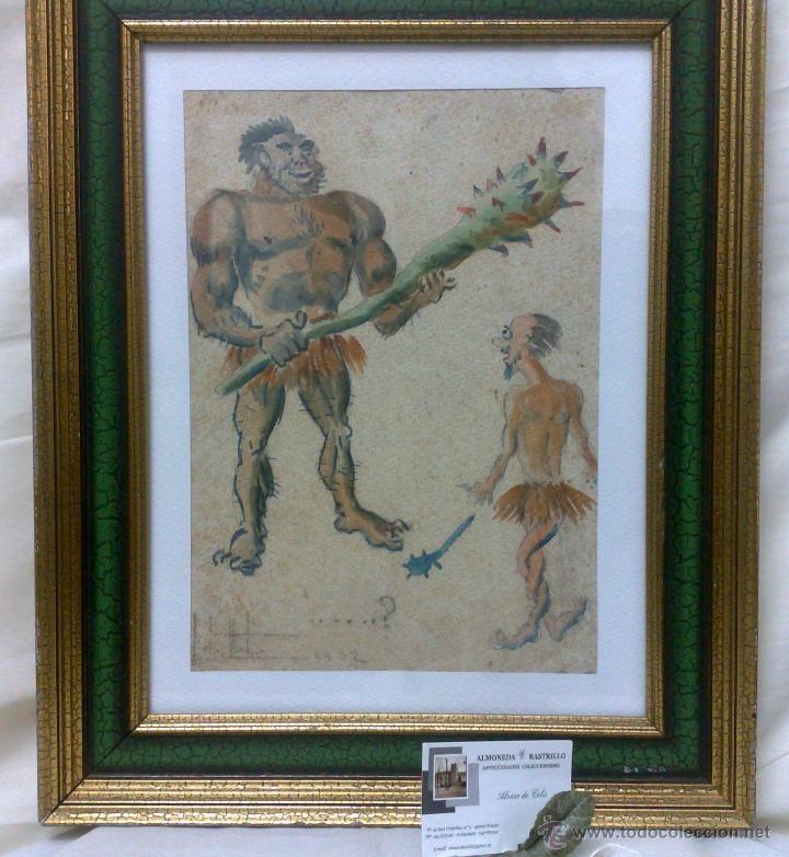 Arte: AÑO 1902. FIRMADO. CARICATURA . ACUARELA/PAPEL. - Foto 13 - 29000467