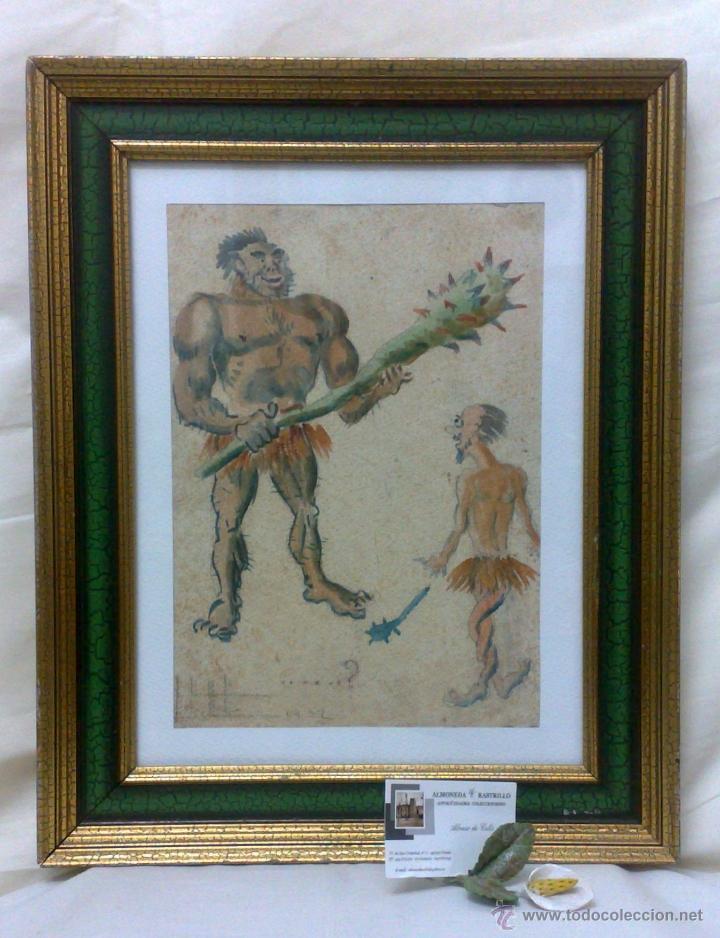 Arte: AÑO 1902. FIRMADO. CARICATURA . ACUARELA/PAPEL. - Foto 15 - 29000467