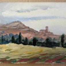 Arte: LOUIS AUBRÉE (FRANCIA , 1906-1991) - - PAISAJE ENTRE BURGOS Y VALLADOLID. Lote 39604236