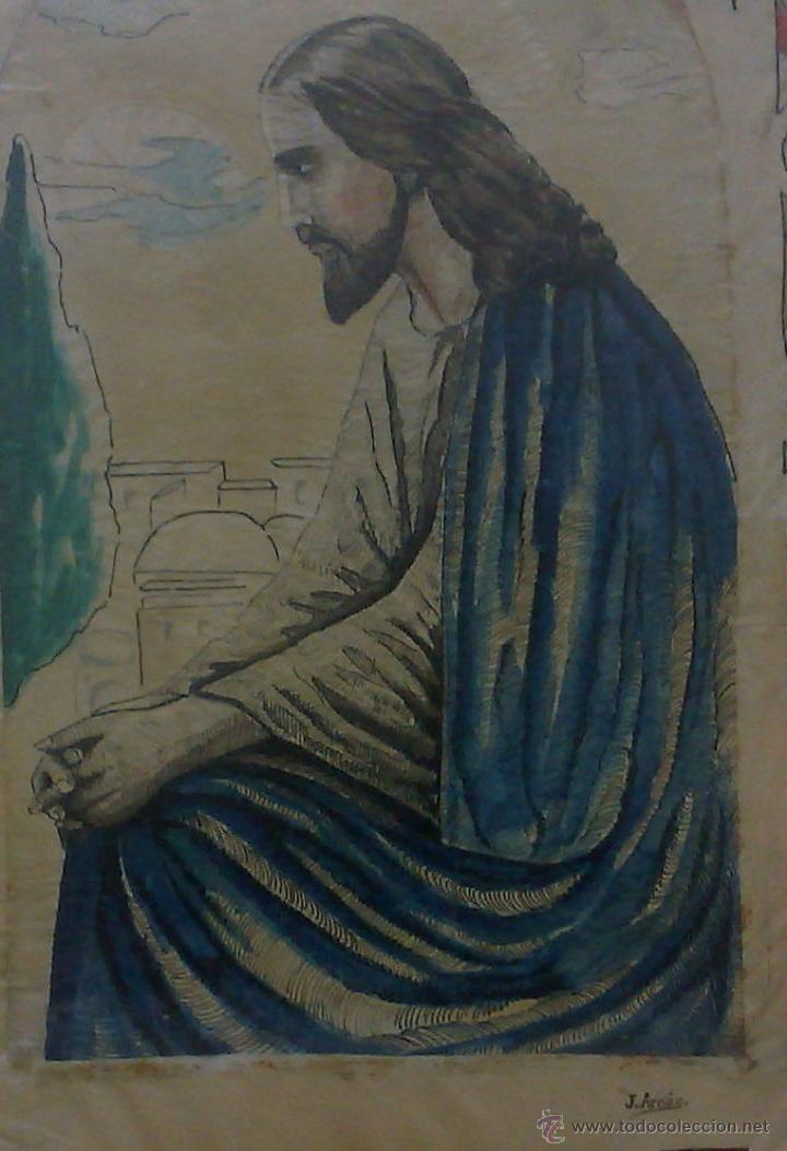 Arte: FIRMADO.- J. ARNÁU. PLUMILLA / ACUARELA. - Foto 5 - 33635924