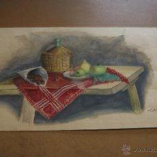Arte: J. MIRACLE. GOCUHE SOBRE CARTULINA. BODEGON.. Lote 39832200