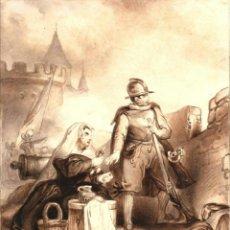 Arte: PRECIOSO DIBUJO DE LODEWYCK ANTONY VINTCENT (1812-1842) - ARTISTA REFERENCIADO Y COTIZADO. Lote 39833532